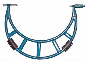 Bügelmessschraube, Spindelsteigung 1,0 mm, Messbereich 300-400 mm