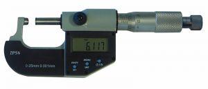 Digital-Rohrwanddicken-Messschraube, IP 54, Messfläche 1 x ballig u. 1 x flach