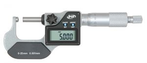 Digital-Rohrwanddicken-Messschraube, IP 65, Messfläche 1 x ballig u. 1 x flach