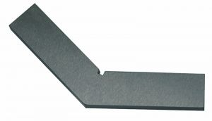 Steel square 120°, without back, 150 x 150 mm