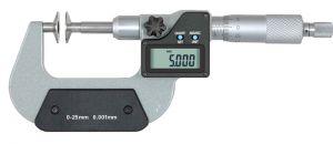 Digital micrometer, type M604, range 25 - 50 mm, disc 20 mm