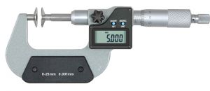 Digital micrometer, type M604, range 50 - 75 mm, disc 20 mm