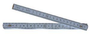 Spezial-Holz-Gliedermaßst. mm-Teil. auf einer Seite, 2.0 m, weiß