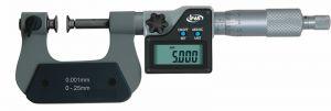 Digital micrometer, type 125, range 0 - 25 mm