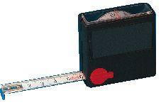 Taschenrollbandmaße, mit Sichtfenster, 2000 mm