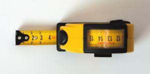 Pocket measuring tape for inside measure, 3000 mm