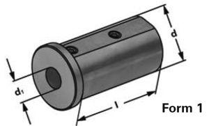Typ E2, d=25mm, d2=10mm