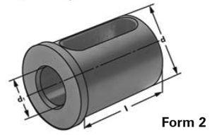 Typ E2, d=25mm, d2=16mm