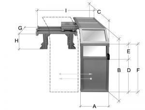 Drehfutterschutz - Schutzeinrichtung 1500 mm *verschiebbar*