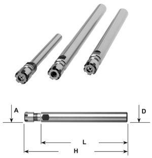 Spannzangenfutter ER - D=16mm / ER 16 / L=100mm
