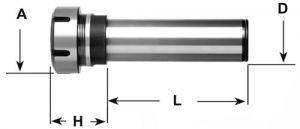Spannzangenfutter ER - D=20mm / ER 25 / L=160mm