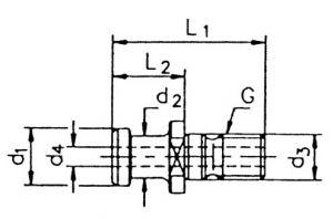 Anzugsbolzen, ISO 7388 II A, SK 40