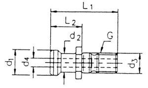 Anzugsbolzen, ISO 7388 II B-OB, SK 40