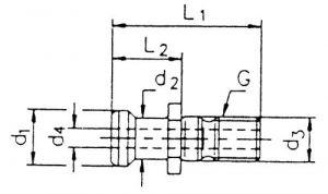 Anzugsbolzen, ISO 7388 II B-OB, SK 50