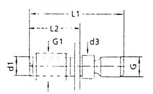 Anzugsbolzen, S 20x2, SK 40
