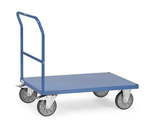 Schiebebügelwagen mit Blechplattform