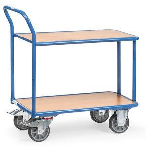 Tischwagen, mit 2 Böden und Schiebebügel