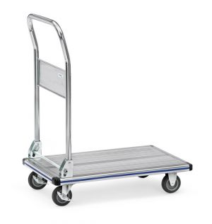 Platform trolleys  with platform made of sheet steel
