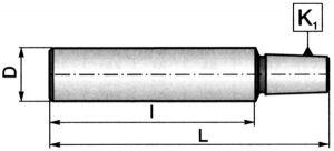 Kegeldorn mit Zylinderschaft - L=75 / B 12