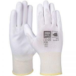 PU fine knitting glove white
