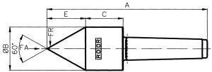 Type E-B, pipe nose 60° - MT 3, ST