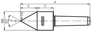 Typ E-B, Vollkegel 60° - MK 5, SU