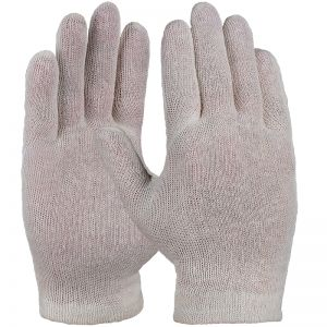Cotton tricot glove, ecru standard quality