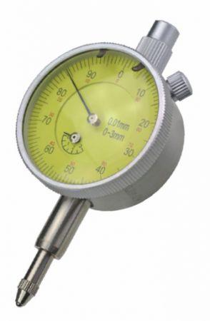 Small dial indicator ภ40 mm, range 3 mm, reading 0,01 mm