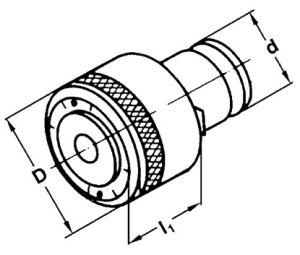 Gewindeschneid-Einsatz, Größe 1, M2, Ø 2.8 x 2.1 mm,