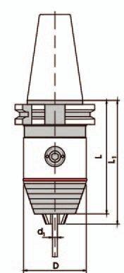 Kurzbohrfutter DIN 69871 - Standard, SK40 0,3-8 mm