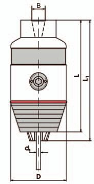 Kurzbohrfutter DIN 238, B12;  0,5 - 13 mm
