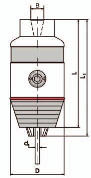 Kurzbohrfutter DIN 238, B18;  2,5 - 16 mm