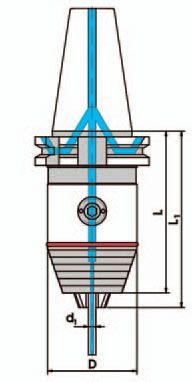 Kurzbohrfutter DIN 69871 - ADB, SK40; 0,3 - 8 mm