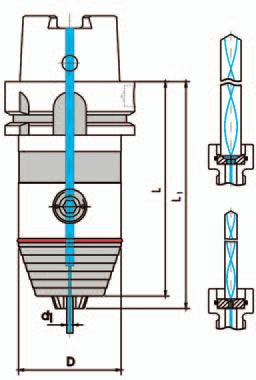 Universal drill chuck DIN 69893 AD, HSK A 80; 2,5 - 16 mm