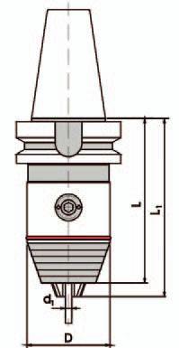 Kurzbohrfutter MAS-BT Standard - SK30; 0,3 - 8 mm
