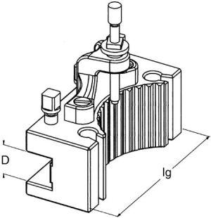 Tool holder D, BD 25/140