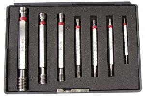 Limit-thread plug gauges-set of 7 pc., ISO thread
