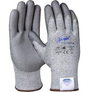 Ninja Silver + PU-Schnittschutzhandschuh