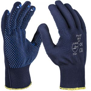 Finley knitted glove, blue