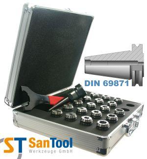 Spannzangensatz mit SZ-Futter DIN 69871 SK40