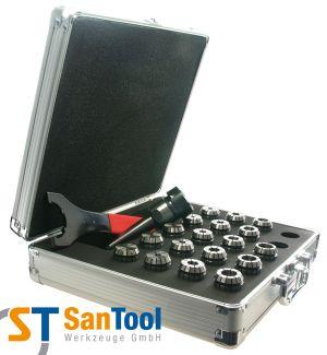 Spannzangensatz mit Morsekegel-Futter MK2-MK4