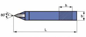 Spitz-Drehmeißel, DIN 4975, ISO10