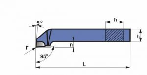 Abgesetzter Eck-Drehmeißel, DIN 4978, ISO3, R+L
