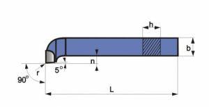 Abgesetzter Stirn-Drehmeißel, DIN 4977, ISO5