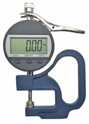 Digital thickness gauge with digital dial indicator