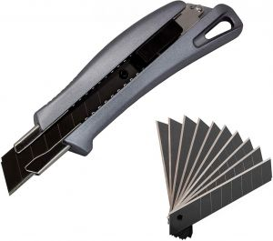 Aluminium Cuttermesser inkl. 11 beschichteten Klingen