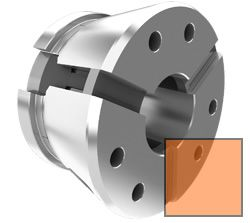Clamping head size 52 - square, radial serrated