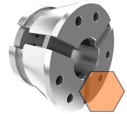 Clamping head size 52 - hexagonal, radial serrated