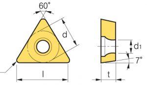 Wendeschneidplatten TBGT060102L, 10 Stück