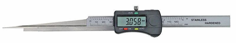 Digital taper slot gauge, made of steel